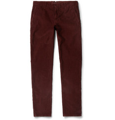 Incotex Slim-Fit Textured Stretch-Cotton Trousers
