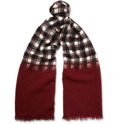 Incotex Checked Wool-Blend Scarf
