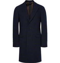 Raf Simons Striped Wool-Blend Bouclé Overcoat