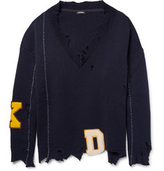 Raf Simons Oversized Distressed Virgin Wool Sweater