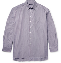 Raf Simons Oversized Striped Cotton-Poplin Shirt