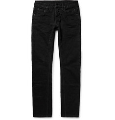 Rick Owens DRKSHDW Detroit Slim-Fit Seam-Detailed Slub Denim Jeans