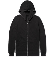 Rick Owens DRKSHDW Brushed-Cotton Zip-Up Hoodie