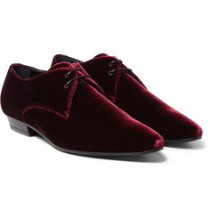 Saint Laurent - Velvet Derby Shoes
