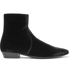 Saint Laurent Velvet Boots