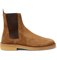 Saint Laurent Cigar Suede Chelsea Boots