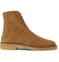 Saint Laurent Cigar Brushed-Suede Boots