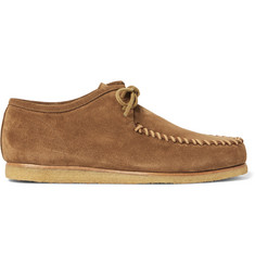 Saint Laurent Cigar Suede Moccasin Shoes