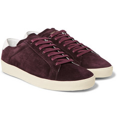 Saint Laurent - SL/06 Leather-Trimmed Suede Sneakers