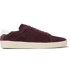 Saint Laurent SL/06 Leather-Trimmed Suede Sneakers