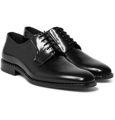 Saint Laurent - Studded Polished-Leather Derby Shoes