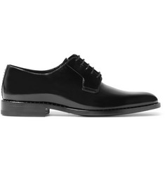 Saint Laurent Studded Polished-Leather Derby Shoes