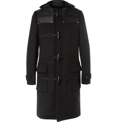 Givenchy Leather-Panelled Wool-Blend Duffle Coat