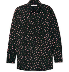 Givenchy Columbian-Fit Floral-Print Silk Shirt