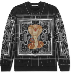 Givenchy Cuban-Fit Cobra-Print Fleece-Back Cotton-Jersey Sweatshirt
