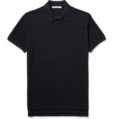 Givenchy Oversized Cobra-Embroidered Cotton-Piqué Polo Shirt