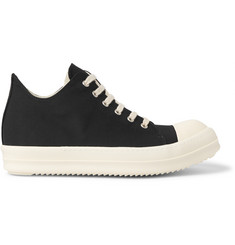 Rick Owens DRKSHDW Rubber-Trimmed Silk-Faille Sneakers