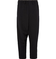 Issey Miyake Men Cropped Wool-Blend Bouclé Trousers