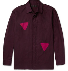 Issey Miyake Men Itajine Printed Brushed Cotton-Twill Shirt