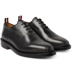 Thom Browne - Whole-Cut Distressed Leather Oxford Shoes