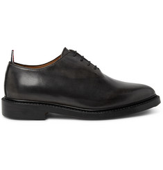 Thom Browne Whole-Cut Distressed Leather Oxford Shoes