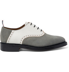Thom Browne Two-Tone Nubuck and Textured-Leather Oxford Shoes