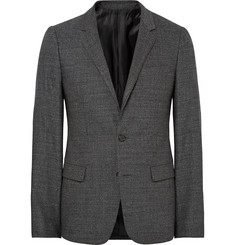 Wooyoungmi Grey Slim-Fit Slub Wool Blazer