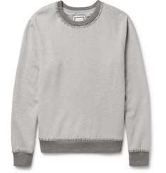 Wooyoungmi Mélange Cotton-Blend Jersey and Wool-Blend Sweatshirt