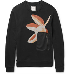 Wooyoungmi Slim-Fit Panelled Printed Loopback Cotton-Jersey Sweatshirt