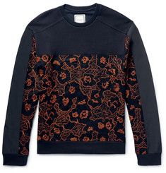 Wooyoungmi Panelled Embroidered Loopback Cotton Sweatshirt