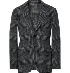 MP Massimo Piombo Slim-Fit Prince of Wales Checked Wool and Cotton-Blend Blazer