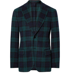 MP Massimo Piombo Slim-Fit Checked Wool-Blend Blazer