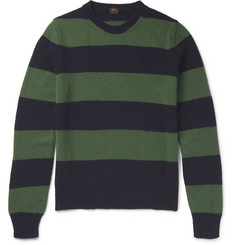 MP Massimo Piombo Striped Virgin Wool Sweater