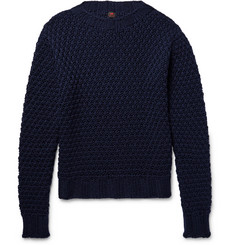 MP Massimo Piombo Honeycomb-Knit Virgin Wool Sweater