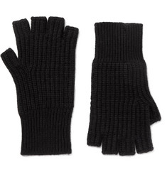 Rag & bone Kaden Ribbed Cashmere Fingerless Gloves