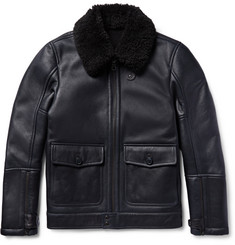 Dunhill Shearling Aviator Jacket