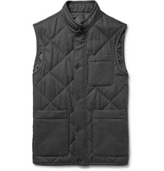 Dunhill Quilted Mélange Wool-Twill Gilet
