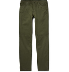 Dunhill Slim-Fit Brushed-Cotton Twill Chinos