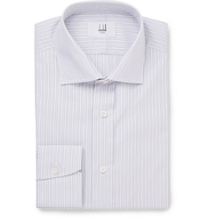 Dunhill - Grey Slim-Fit Striped Cotton Shirt