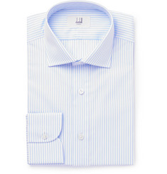 Dunhill - Blue Slim-Fit Striped Cotton Shirt