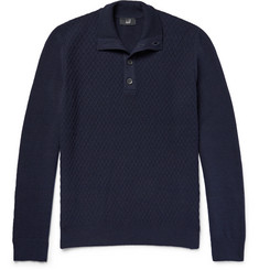 Dunhill Funnel-Neck Textured Wool Sweater