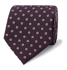 Dunhill 8cm Polka-Dot Wool Tie