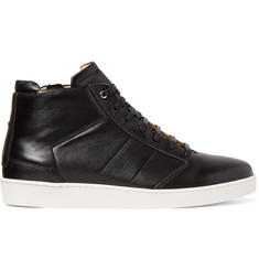 WANT LES ESSENTIELS Lennon Panelled Leather High-Top Sneakers