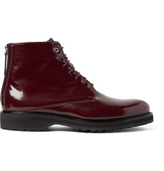 WANT LES ESSENTIELS Montoro Patent-Leather Boots