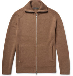 Theory Ronzons Ribbed Merino Wool Zip-Up Sweater