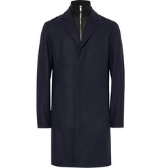 Theory Delancey Convertible Wool-Blend Overcoat