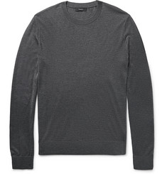 Theory Riland Stretch Silk and Cashmere-Blend Sweater