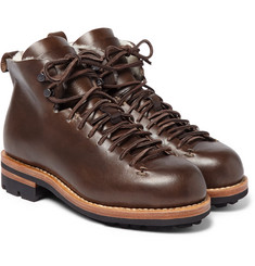 Feit - Hiker Shearling-Trimmed Leather Boots