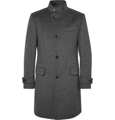 Hugo Boss Sintrax Mélange Virgin Wool and Cashmere-Blend Coat