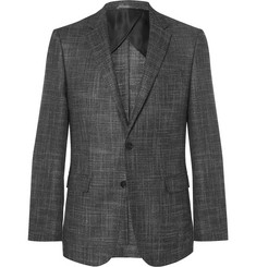 Hugo Boss - Grey Slim-Fit Virgin Wool-Blend Blazer